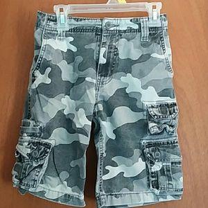 Boys Faded Glory Camo Cargo Shorts Size 7
